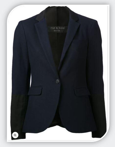 blue contrast blazer
