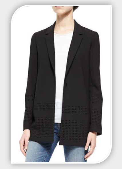 perforated blazer