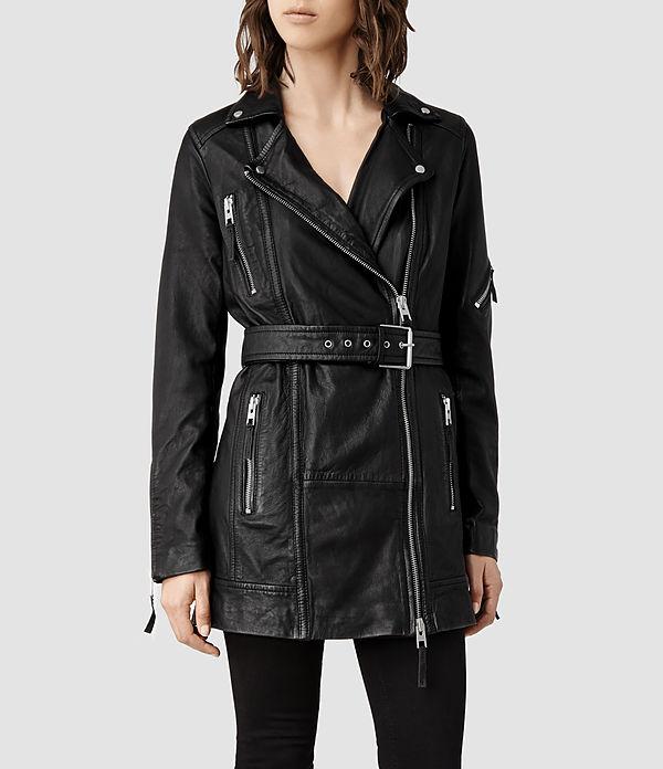 long leather jacket2